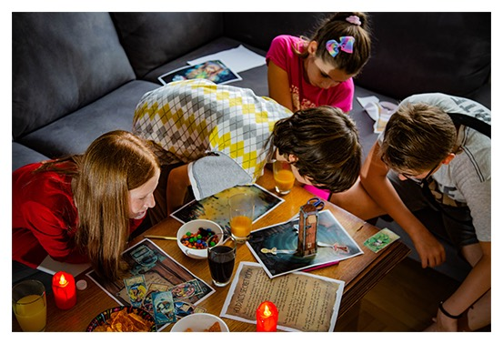 kids playing escape room at home